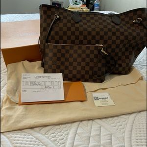 Louis Vuitton Neverfull MM//Damier Ebene